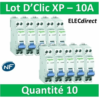 SCHNEIDER - LOT DE 10 DISJONCTEURS XP 10A - 20725