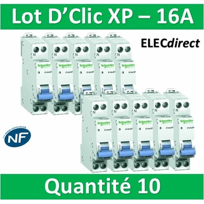 SCHNEIDER - LOT DE 10 DISJONCTEURS XP 16A - 20726