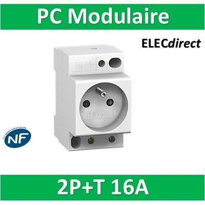 Schneider - PC'CLIC PC+T Modulaire 16A - 250V - 16776