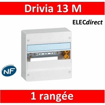 Legrand - Coffret DRIVIA 13 Modules - 1 Rangée de 13M - 401211