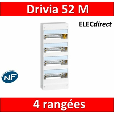 Legrand - Coffret DRIVIA 52 Modules - 4 Rangées de 13M - 401214