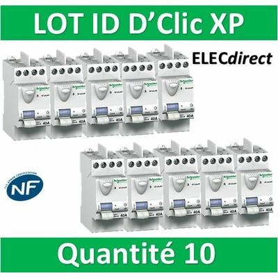 SCHNEIDER - Lot de 10 interrupteurs différentiels XP - ID 2x40A 30mA AC - 23160