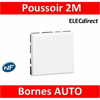 Legrand Mosaic - Bouton poussoir - 2 modules - 6A - 230V - 077040