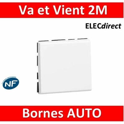 Legrand Mosaic - Va-et-Vient - 2 modules - 10A - 230V - 077011