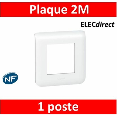 Legrand Mosaic - Plaque 2 modules - 1 poste - 078802