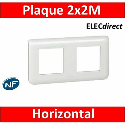 Legrand Mosaic - Plaque 2 x 2 modules - 2 postes (4M) - horizontal - 078804