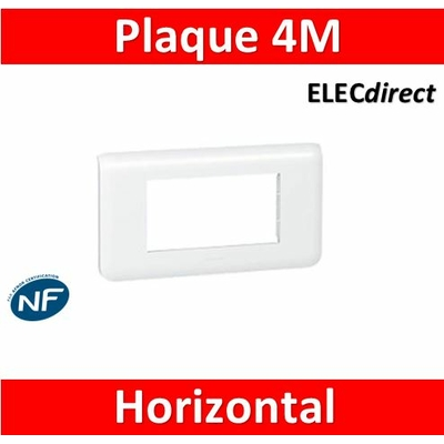 Legrand Mosaic - Plaque 4 modules - horizontal - 078814