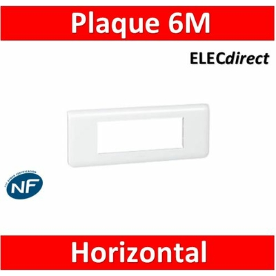 Legrand Mosaic - Plaque 6 modules - horizontal - 078816