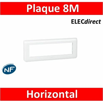 Legrand Mosaic - Plaque 8 modules - horizontal - 078818