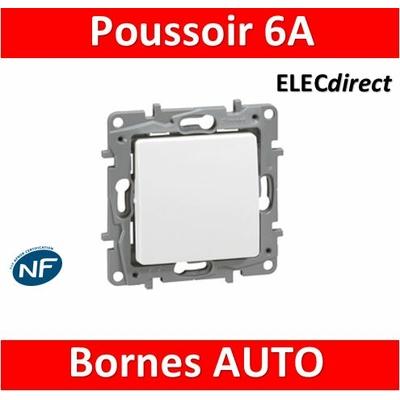 Legrand Niloé - Poussoir 6A Blanc - 664705