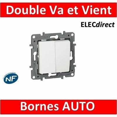 Legrand Niloé - Double Va et Vient 10A Blanc - 664702