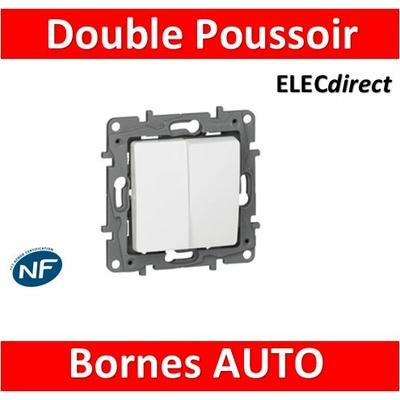 Legrand Niloé - Double poussoir Blanc - 664708