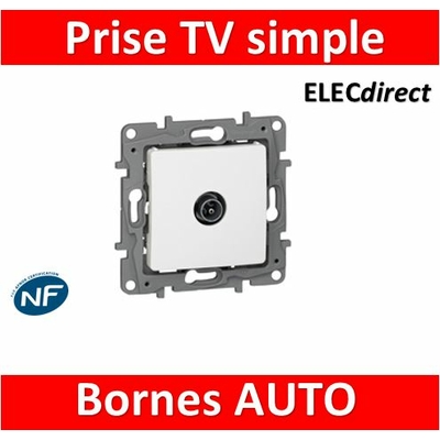 Legrand Niloé - Prise TV simple Blanc - 664751