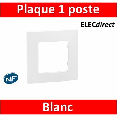 Legrand Niloé - Plaque simple - Blanc - 665001