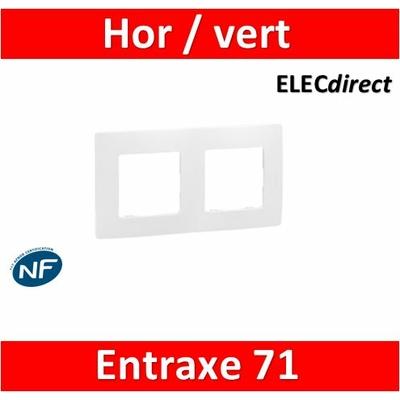 Legrand Niloé - Plaque double - Blanc - 665002