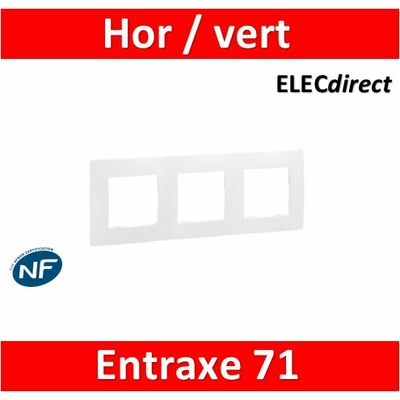 Legrand Niloé - Plaque triple - Blanc - 665003