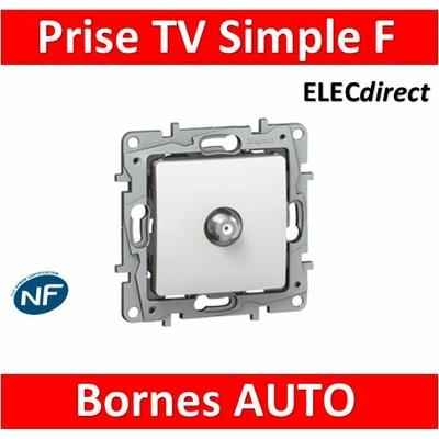 Legrand Niloé - Prise TV Fiche F - Blanc - 664750