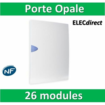 Schneider - Porte Opaque blanche - 26 modules - 13422