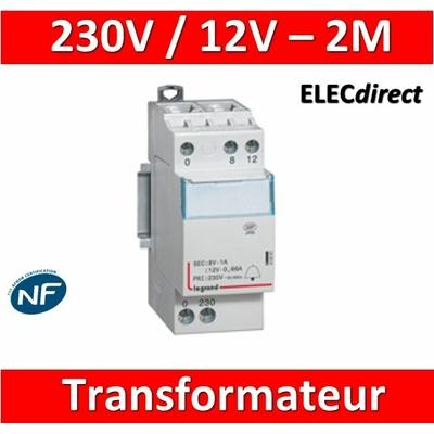 Legrand - Transformateur pour sonnerie - 230V / 12V - 8V - 8VA - 413091