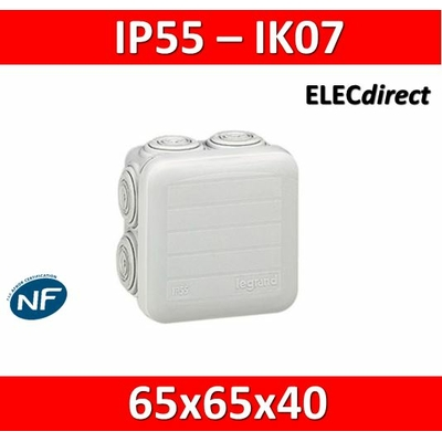 Legrand - Boîte de dérivation étanche IP55 - 65x65x40 - 092005