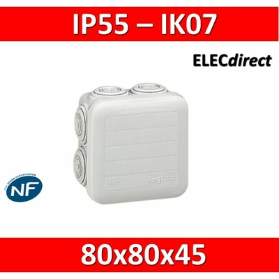 Legrand - Boîte de dérivation étanche IP55 - 80x80x45 - 092012