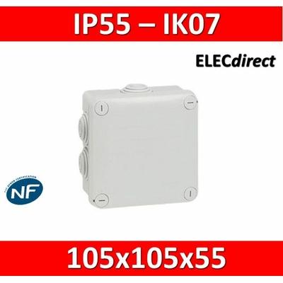 Legrand - Boîte de dérivation étanche IP55 - 105x105x55 - 092022
