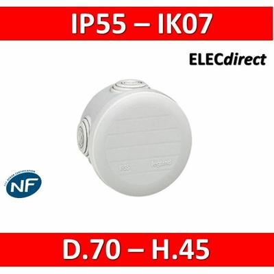 Legrand - Boîte de dérivation étanche IP55 - D.70 - 092002
