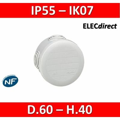 Legrand - Boîte de dérivation étanche IP55 - D.60 - 092001