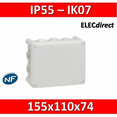 Legrand - Boîte de dérivation étanche IP55 - 155x110x74 - 092042
