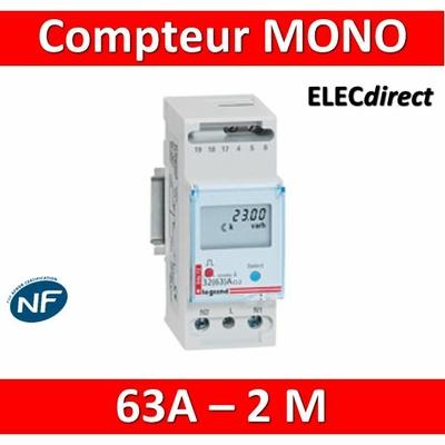 Legrand - Compteur d'énergie MONO EMDX3 - 63A - 004672