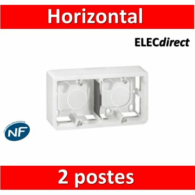 Legrand Mosaic - Cadre saillie 2 postes - 2 x 2 modules - horizontal - 080285