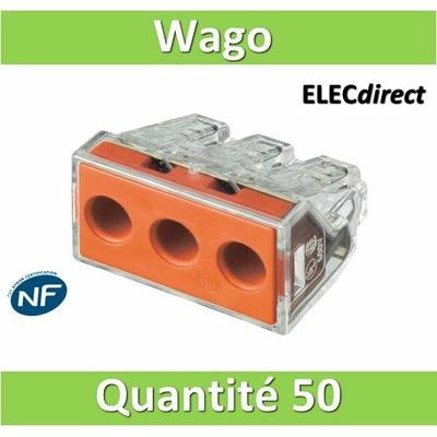 WAGO - Boîte de 50 Bornes auto fils rigide 3 x 6mm2 - WAG 773-173