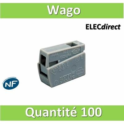 WAGO - Boîte de 100 Bornes auto pour luminaires 1 conducteur fils R / 1 conducteur fils R - S (0.5 à 2.5 mm2) WAG 224-101