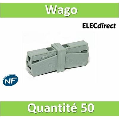 WAGO - Boîte de 50 Bornes auto de service 1 conducteur fils R - S / 1 conducteur fils R - S (0.5 à 2.5 mm2) WAG 224-201