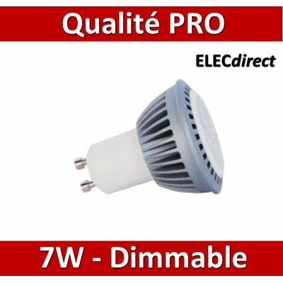 Lited - Lampe LED 7W - 4000K - Dimmable - GU10 - 220V - 420lm