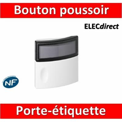 Legrand - Bouton poussoir porte-étiquette - 041647