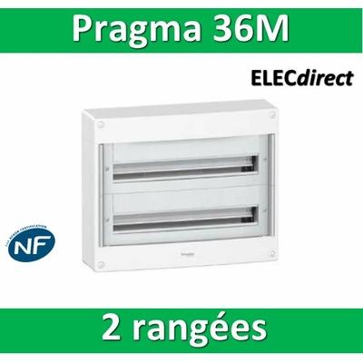 Schneider - Coffret électrique PRAGMA 36 modules - 2 rangées de 18M - PRA13752