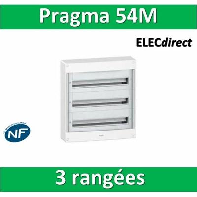 Schneider - Coffret électrique PRAGMA 54 modules - 3 rangées de 18M PRA13753