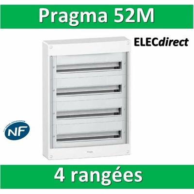 Schneider - Coffret électrique PRAGMA 52 modules - 4 rangées de 13M - PRA13654