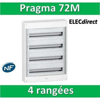 Schneider - Coffret électrique PRAGMA 72 modules - 4 rangées de 18M - PRA13754