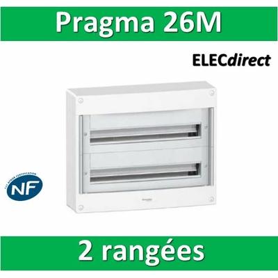 Schneider - Coffret électrique PRAGMA 26 modules - 2 rangées de 13M - PRA13652