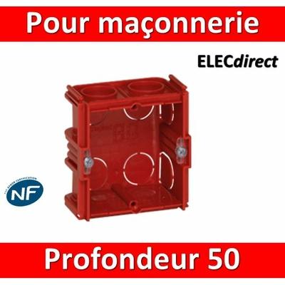 Legrand Batibox - Boîte à sceller monoposte prof. 50mm - 080151
