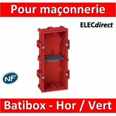 Legrand Batibox - Boîte à sceller 2 postes Hor/vert - 080142