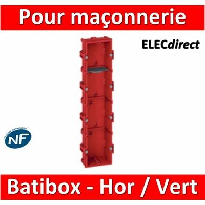 Legrand Batibox - Boîte à sceller 4 postes Hor/vert - 080144