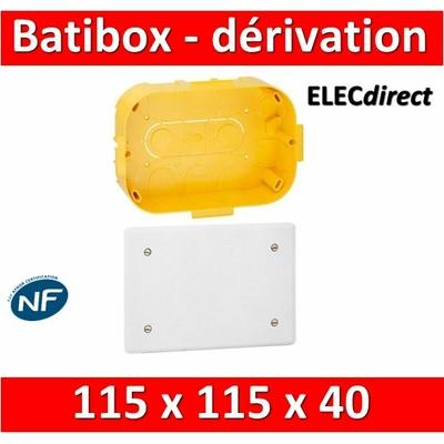 Legrand Batibox - Boîte pour dérivation 115x115x40 - 089372