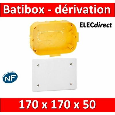 Legrand Batibox - Boîte pour dérivation 170x170x50 - 089374