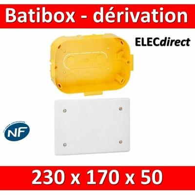 Legrand Batibox - Boîte pour dérivation 230x170x50 - 089375