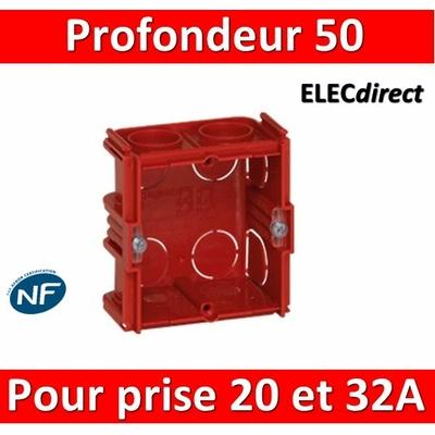 Legrand Batibox - Boîte à sceller pour prise 20 et 32A Prof. 50 - 080185