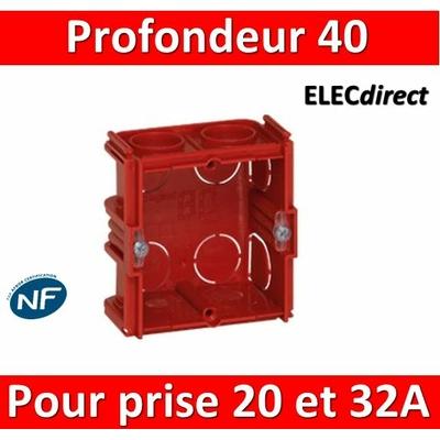 Legrand Batibox - Boîte à sceller pour prise 20 et 32A Prof. 40 - 080184
