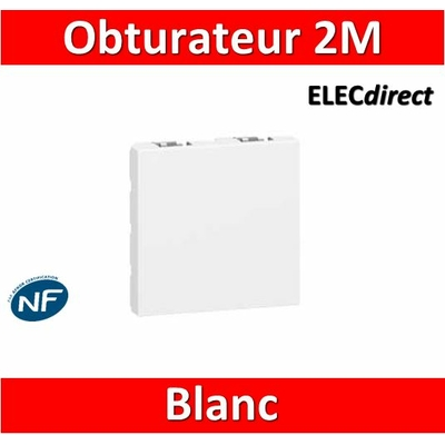 Legrand Mosaic - Obturateur 2 modules - 077071